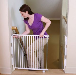 Best Baby Gates Top Of Stairs Regalo Extra Tall Gate With Woman