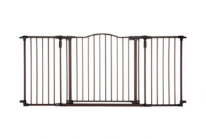 North States Supergate Deluxe Décor Metal Outdoor Play Yard